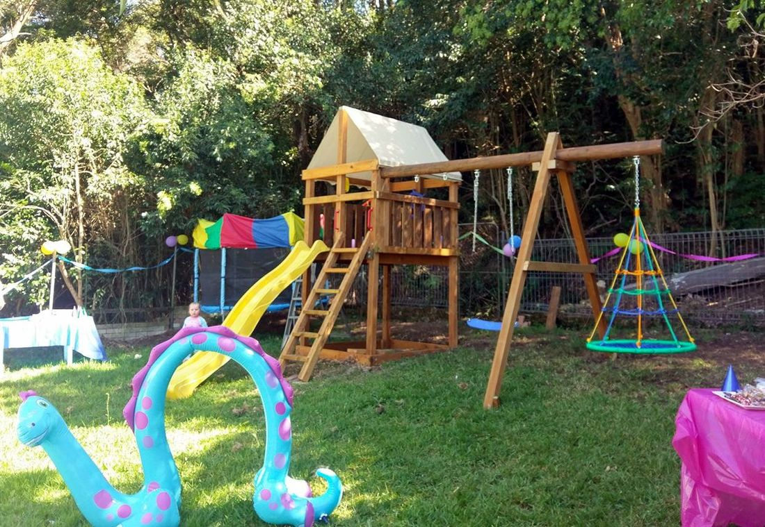DIY Triton Fort and Swingset Add-on in Australia.