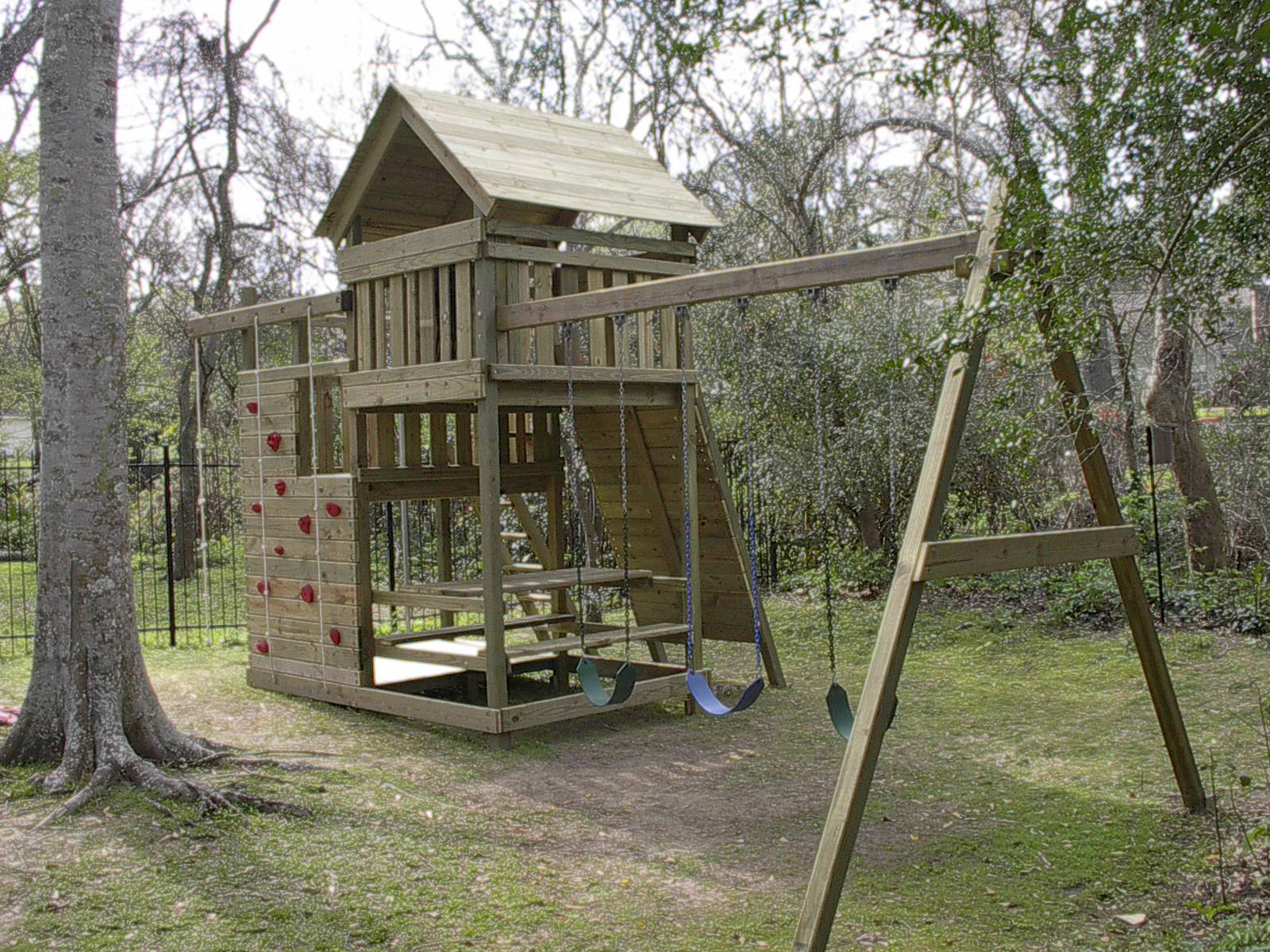 gemini playset diy wood fort and swingset plans