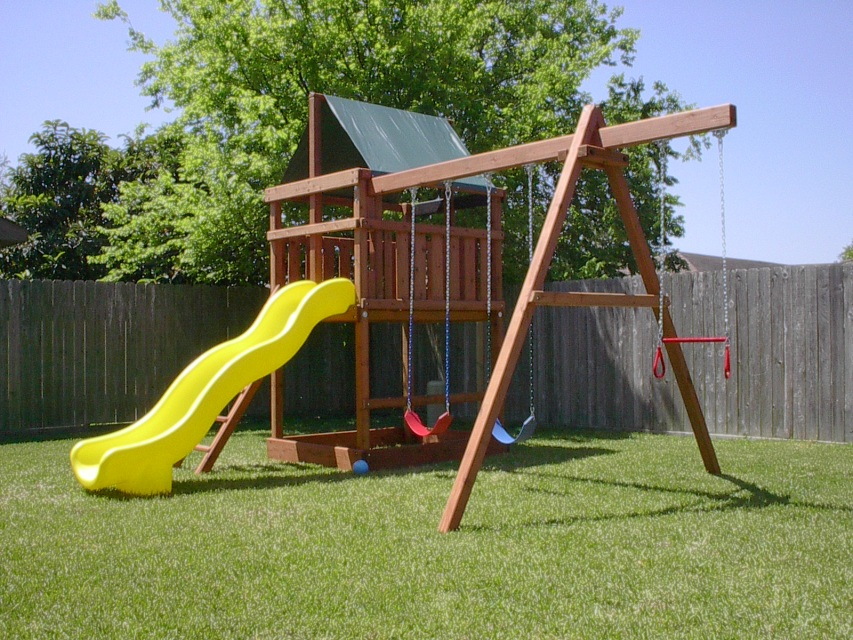 Playset kits and swingset parts for diy for Small wooden swing sets