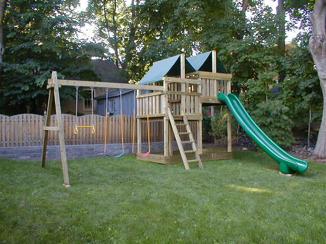 Playset kits and swingset parts for diy for Diy play structure